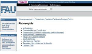 Bild 2: UnivIS Philosophie